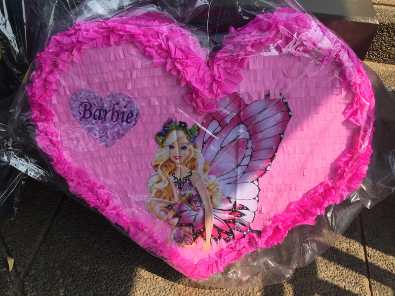 Pinata Barbie Heart Custom